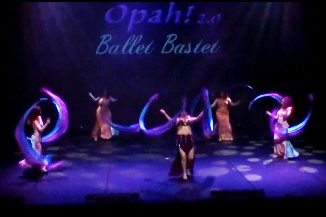 الرقص الشرقي Illina & Ballet Bastet  group double silk poi perf. Opah! 2.0 show,  2015 june, Fra