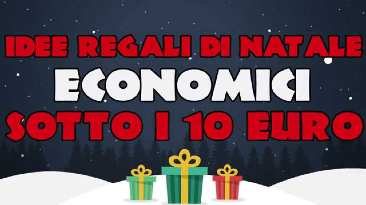 Idee regali di natale economici sotto i 10 euro youtube for Idee regali