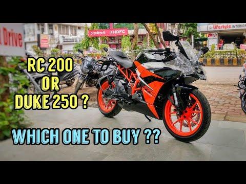Ktm Rc 200 Black Colour 2018 Review - Rc 200 Or Duke 250 ?