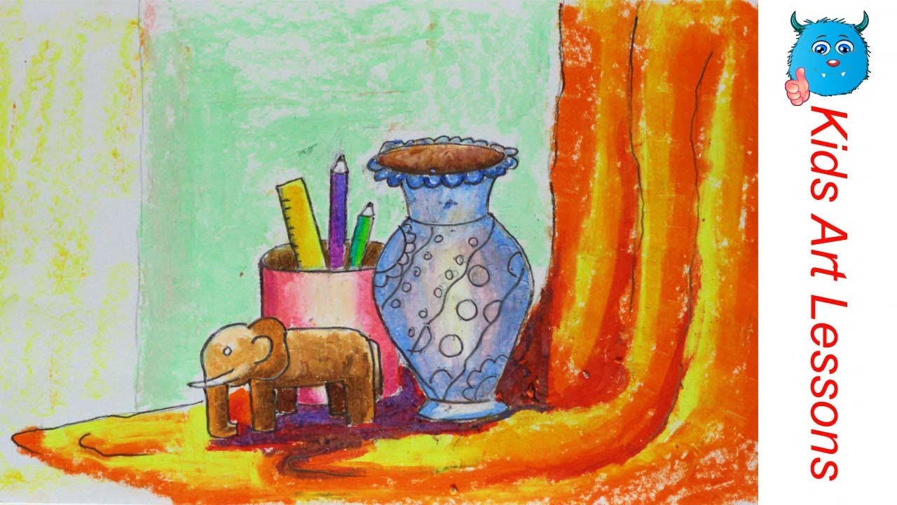 How To Draw A Easy Still Life Step By Step For Beginners In Oil