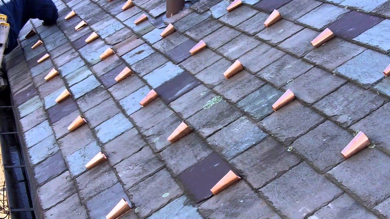 Slate Roof Repair U0026 Ice Dams   Newton Ma.   GF Sprague Roofing |  781 455 0556   YouTube