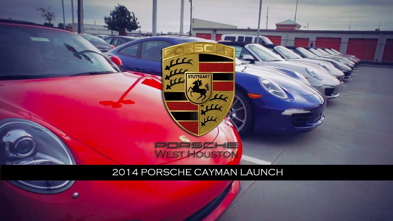 Porsche West Houston >> 2014 Porsche Cayman Launch Party Porsche West Houston Youtube