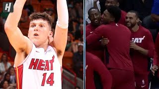 Tyler Herro Drops 14 Straight Points With Four Threes vs Hawks | 2019 NBA Preseason