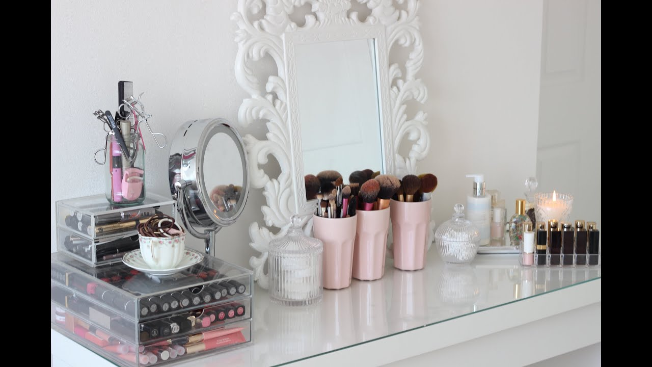 Makeup Table Room Tour Malm Dressing Table And Make Up Collection Youtube