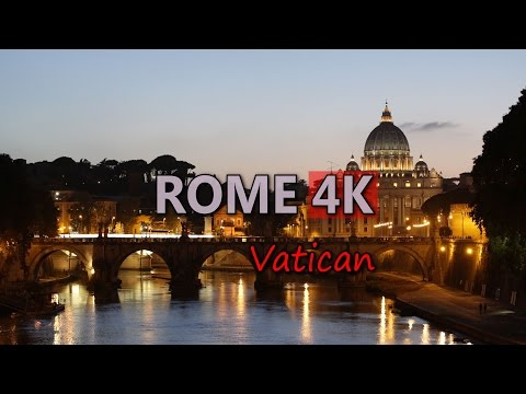 Ultra HD 4K Rome Travel Italy Tourism Vatican St Peter's Basilica Tourist Sight Video Stock Footage