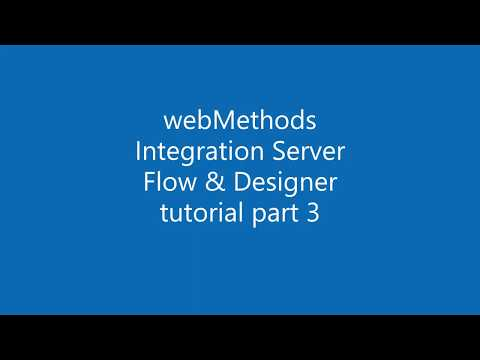 webMethods Integration Server with Flow tutorial 3
