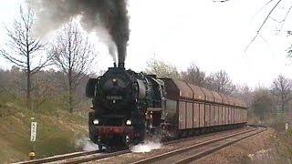 800 t kohleleerzug steigung vor wittgensdorf u ausfahrt frohburg mit dampflok 52 8154 8