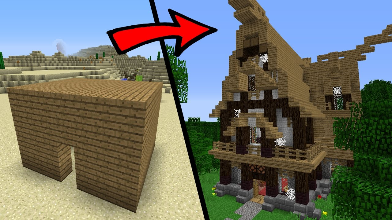 How To Build Herobrines Family House In Minecraft With Building Ideas Youtube