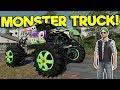 MONSTER TRUCK MOD RACE & POTATO FARM! - Farming Simulator 19 Gameplay - FS 19 Multiplayer