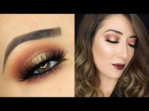 Orange and Gold Halo Smokey Eye Makeup Tutorial