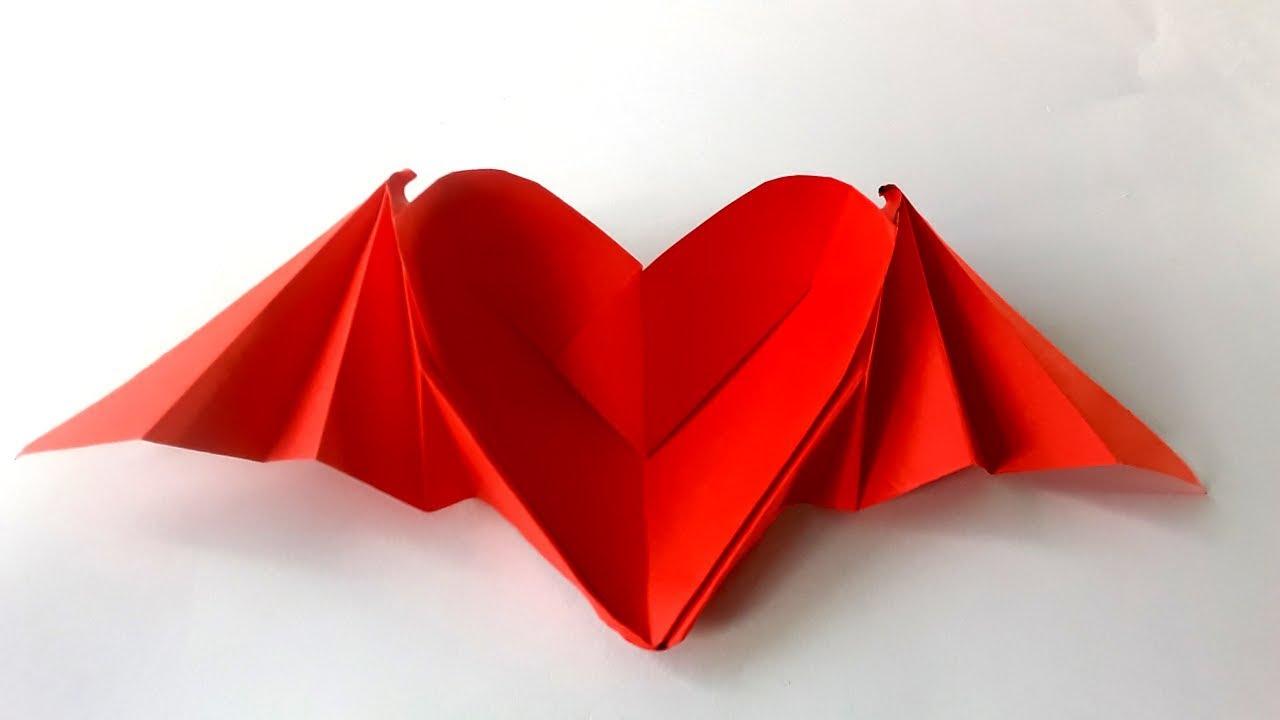 Como Hacer Un Corazon Con Alas Origami Corazon De Papel Heart - Origami-corazn