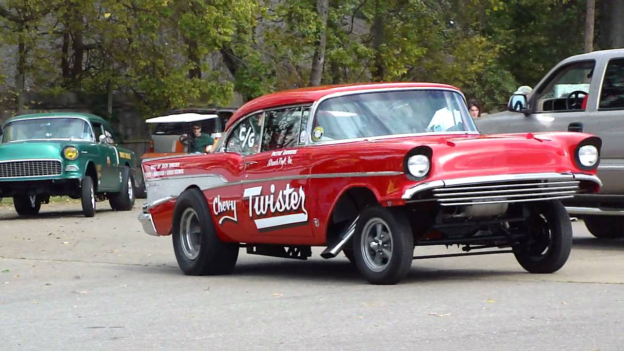 57 chevy gasser straight axle 4 speed ladder bars kqql youtube. Black Bedroom Furniture Sets. Home Design Ideas