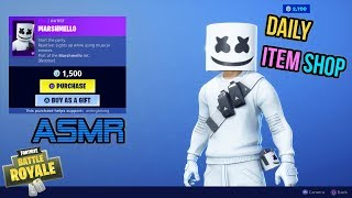 Quick ASMR Gaming | Fortnite MARSHMELLO Skin Is Back! Daily Relaxing Item Shop Update 🎮🎧Whispering😴💤