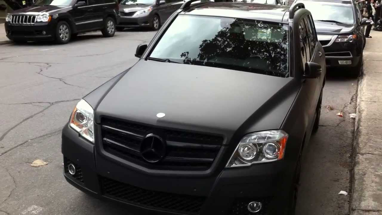 Matte Black Mercedes GLK350 4matic in Montreal  YouTube