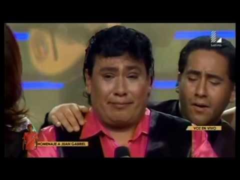 Yo Soy Juan Gabriel rompio en llanto tras cantar Abrazame muy fuerte - 29/08/2016
