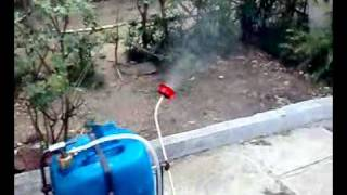 push operated spray pump, mechanical fabrication project, final year