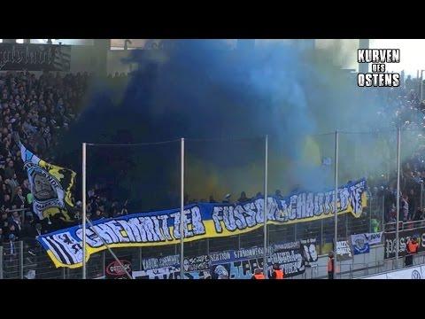 FSV Zwickau 1:0 Chemnitzer FC 12.03.2017 | Choreo, Pyro & Support