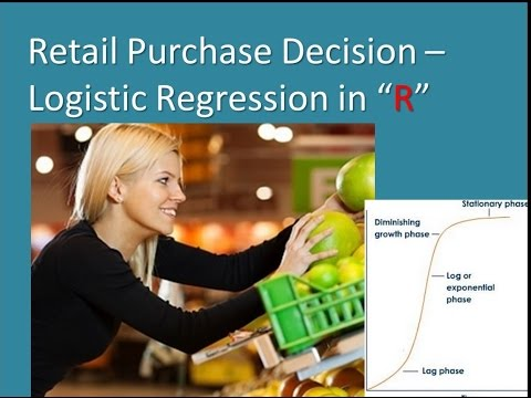 Retail Product Purchase Logistic Regression Model Vid 11MAY