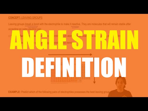 What is angle strain?