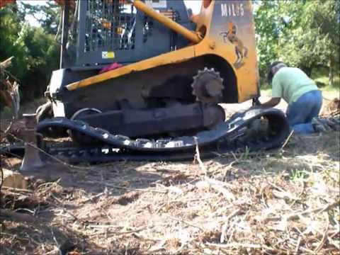 Skid Steer Track Replacement Part 1 of 2