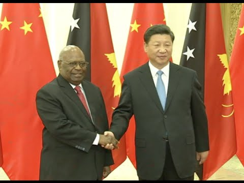 Chinese President Meets with Papua New Guinean Governor-General, Vanuatu Prime Minister