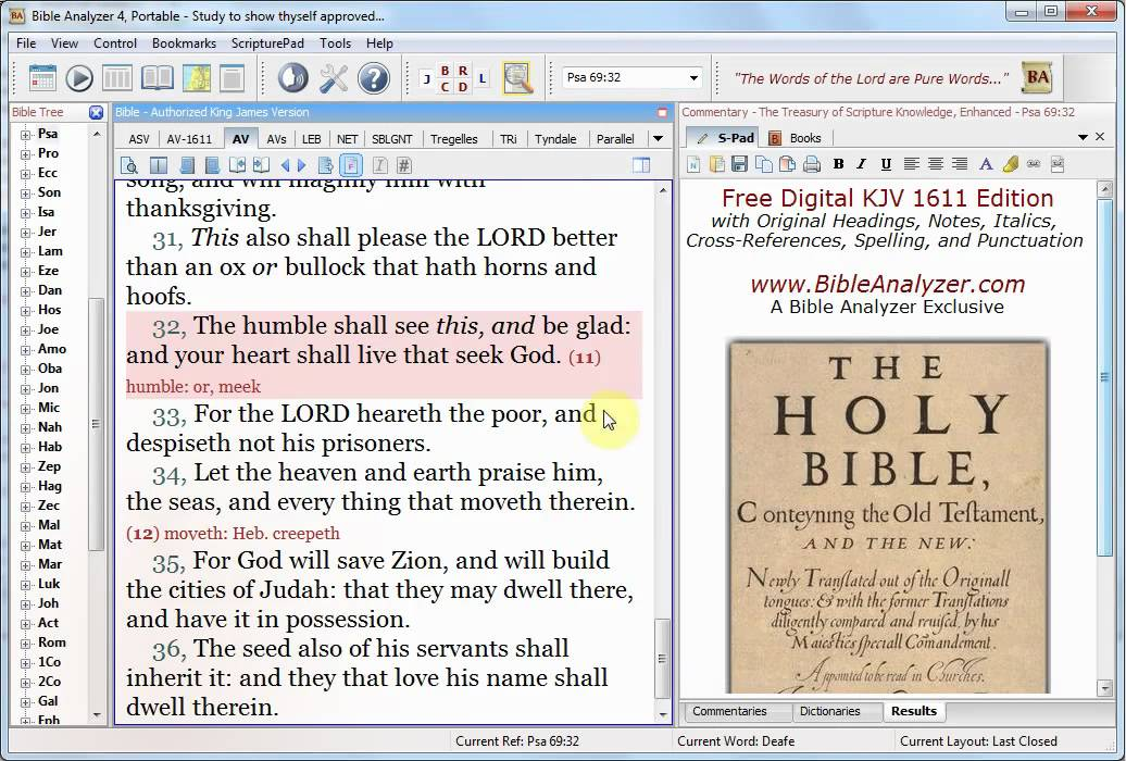 free king james bible download for pc