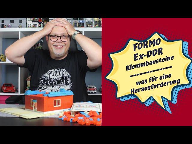 FORMO - Klemmbausteine der ehemaligen DDR! Schon heftig, was den Kindern damals zugemutet wurde...