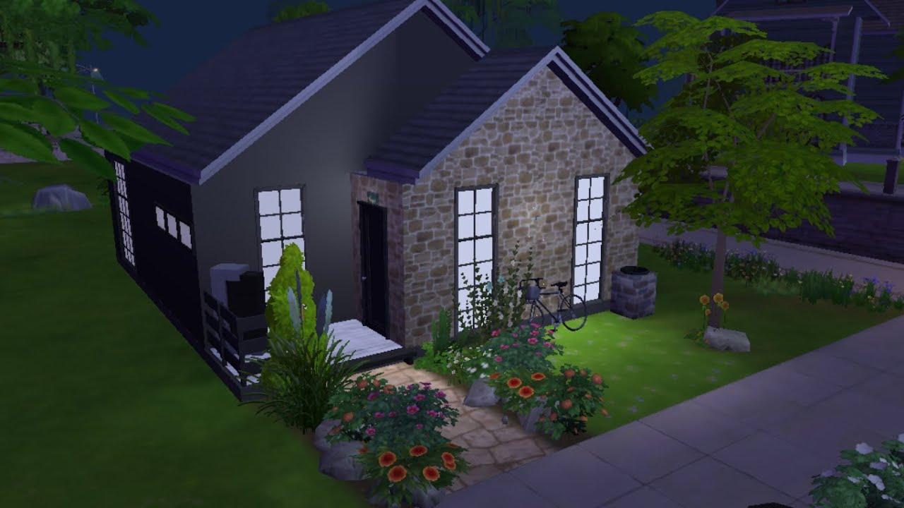 Sims 4 petite maison pour 1 sim youtube for Maison prefabriquee sims 4