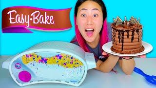 I TRIED BAKING WITH AN EASY BAKE OVEN!! * Will it work? *