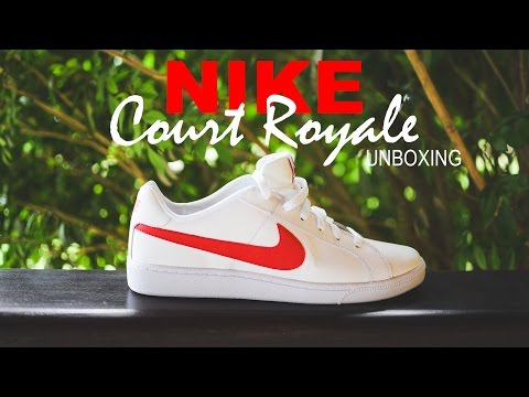 the best attitude 83576 938cd Nike Court Royale White with Red Unboxing (Branco com Vermelho)