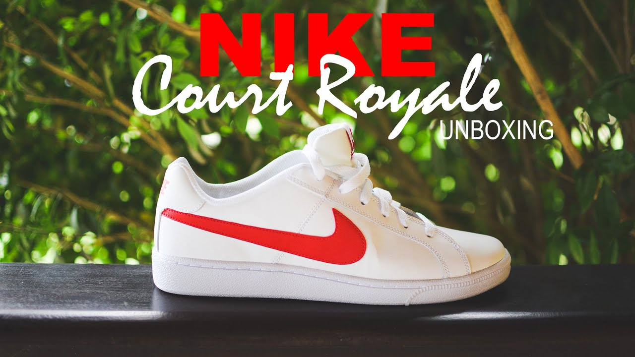 Nike Court Royale White with Red Unboxing (Branco com Vermelho)