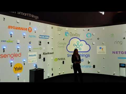 Caslin Rose speaking at Samsung Smart Things CES 2018
