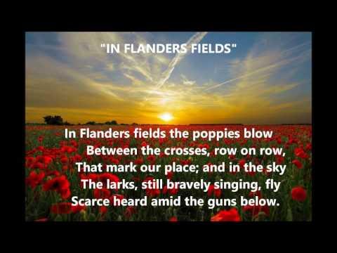 IN FLANDERS FIELDS song/poem words patriotic veterans hero tribute sing alonglyrics
