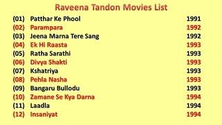 Raveena Tandon Movies List