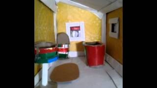 Cardboard Doll House Bathroom