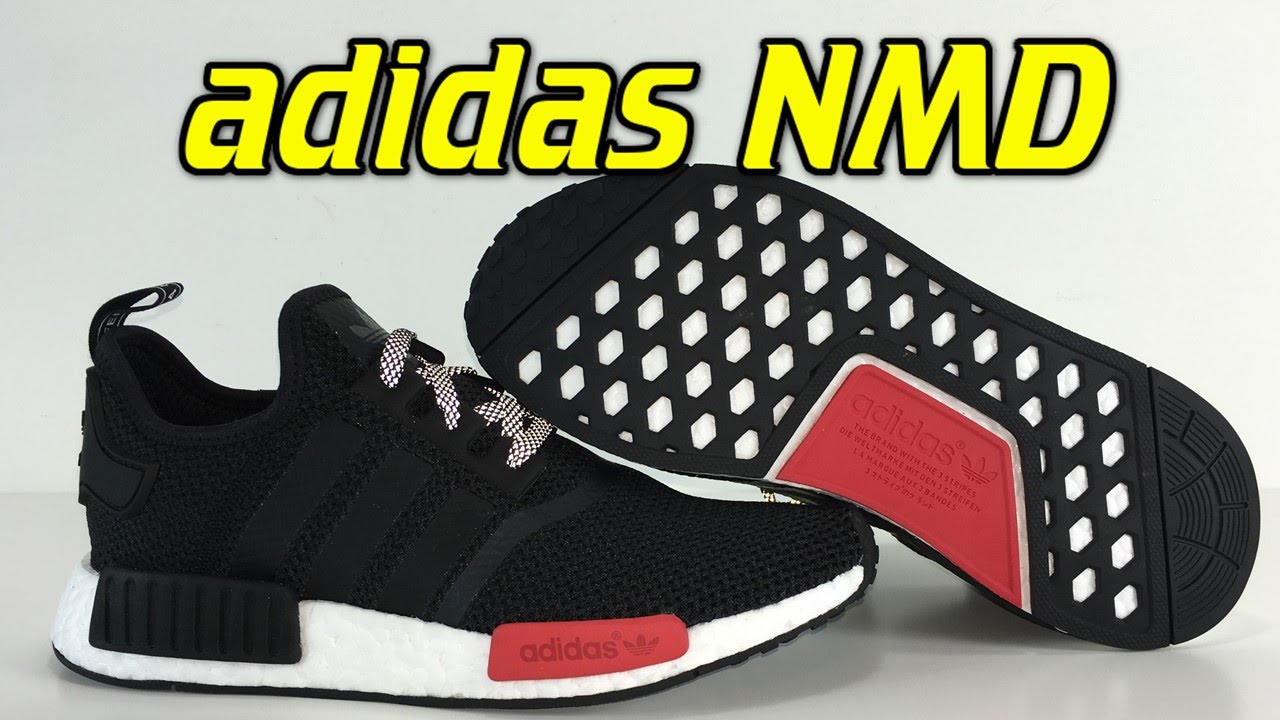 Adidas Nmd Black Red Review On Feet Youtube
