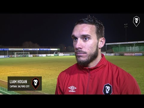 Blyth Spartans 0-1 Salford City - Liam Hogan post-match interview