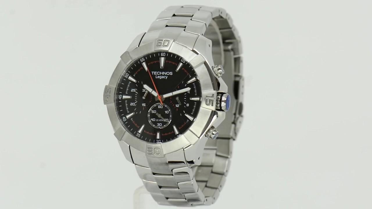 Relógio Technos Masculino Legacy JS20AG 1P - Eclock - YouTube 826775d955