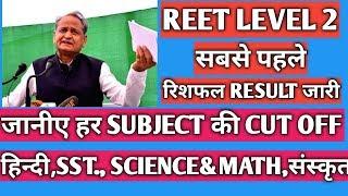 Reet Level 2 subject wise final cut off रिशफल result के बाद||sst,science&math,hindi,संस्कृत