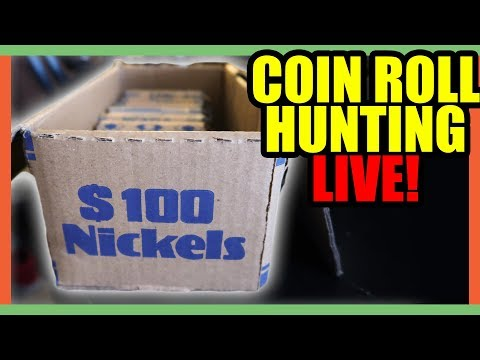 COIN ROLL HUNTING NICKELS!! HOW TO GET RARE COINS FROM THE BANK!!