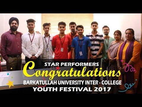 Best Singer & Mimics at BU Bhopal Youth Festival 2017