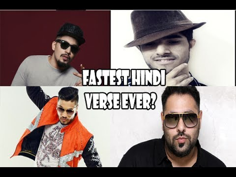 Fastest Hindi Rap Verse Ever? Raftaar VS Badshah VS Naezy VS Parry G VS Encore ABJ