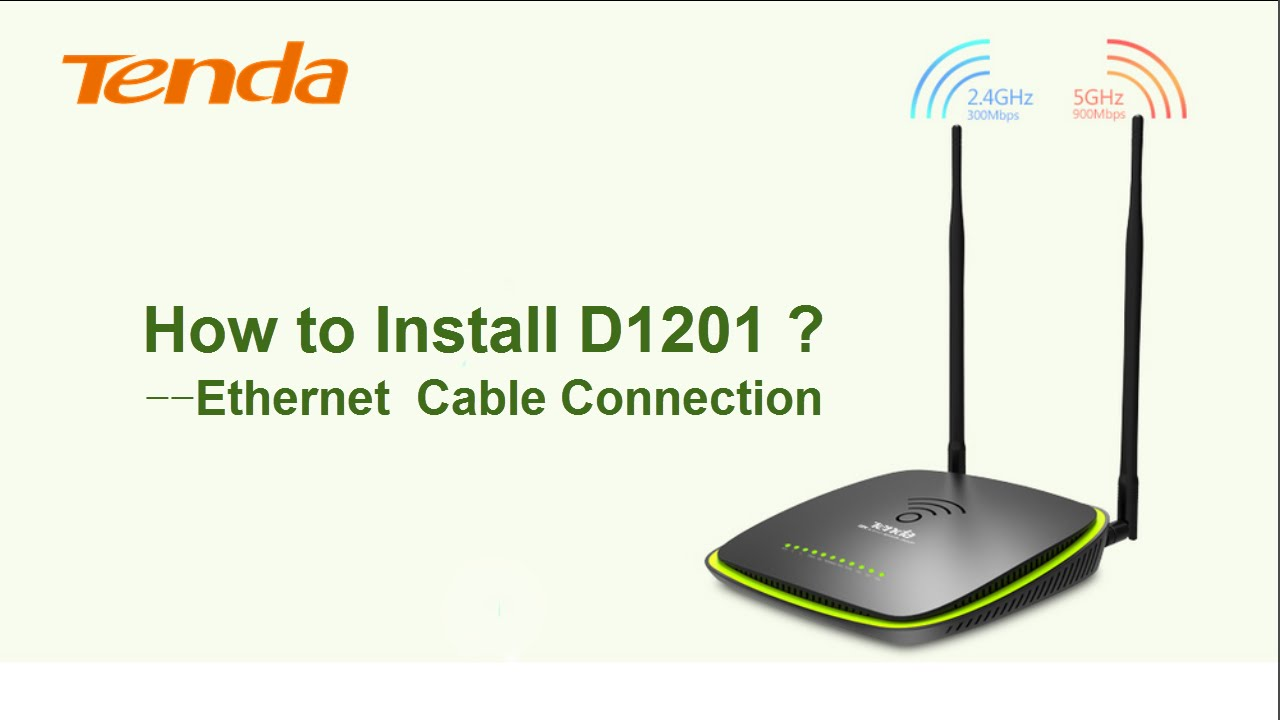 How To Install Tenda D1201 Ethernet Cable Connection2016 Youtube Wiring
