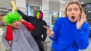 HAIR DYE PRANK ON STEPHEN SHARER w/ MYSTERY NEIGHBOR!! (GONE WRONG)