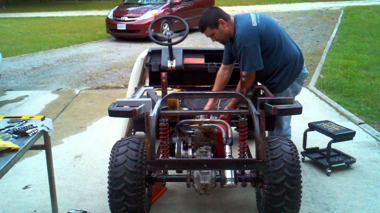 Ezgo Golf Cart Wiring Diagram Batteries Golf Cart Big Block With 3 Link First Start Youtube