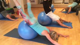 Pilates class at the Yorkshire Centre for Wellbeing The Swan Dive on the Ball