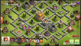 clash of clans attack in TH 7 with different type of army