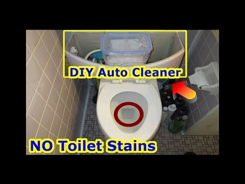 DIY World's First Toilet Bowl Water Softener - Prevent Hard Water Stains Rust Ring - No Clean Toilet