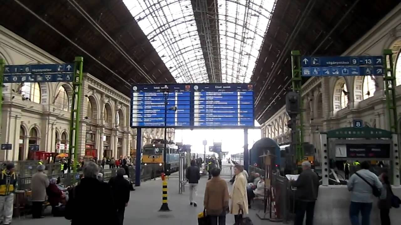 budapest keleti pu railwaystation train station youtube. Black Bedroom Furniture Sets. Home Design Ideas