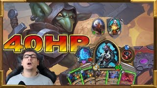 Hearthstone: 40HP Rogue! This Is The Most Crazy Game I